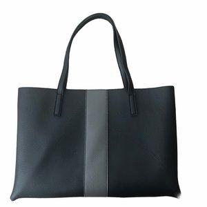 Vince Camuto Black & Grey Vegan Leather Tote Bag